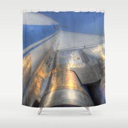 Tupolev TU-144 Russian Concorde Shower Curtain