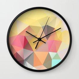 Polygon print bright colors Wall Clock