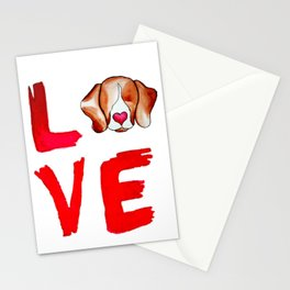 Love Beagles Stationery Cards