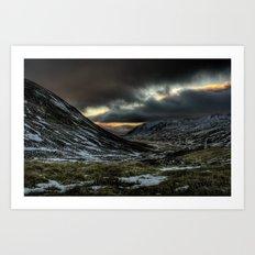 Gloomy Mountains Art Print