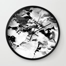 Blk Marble Wall Clock