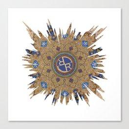 Mandala Seamless Pattern BURST Floral Canvas Print