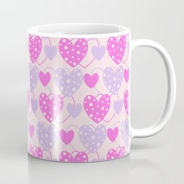 Pink Hearts Coffee Mug