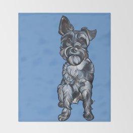 Rupert the Miniature Schnauzer Throw Blanket