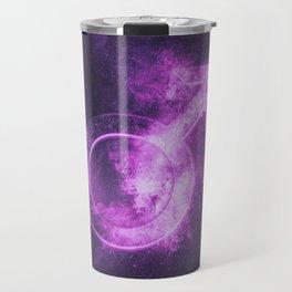 Planet Mars Symbol. Mars sign. Abstract night sky background. Travel Mug
