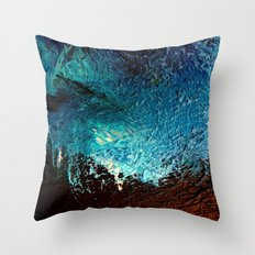 Abstract blue, white and purple painting photography Throw Pillow