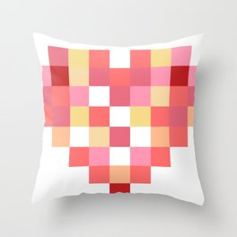 Squares of Love Throw Pillow