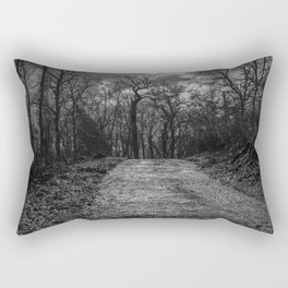 Reaching the trees, black and white Rectangular Pillow