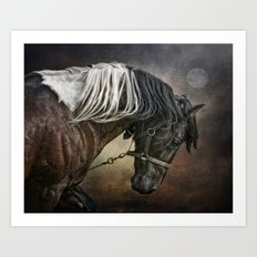 Restless Moon Art Print