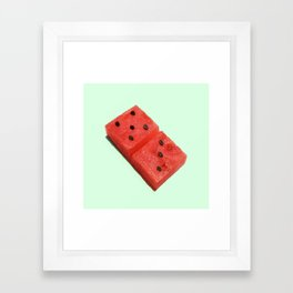 WATERMELON DOMINO Framed Art Print