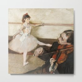 Edgar Degas - The Dance Lesson Metal Print