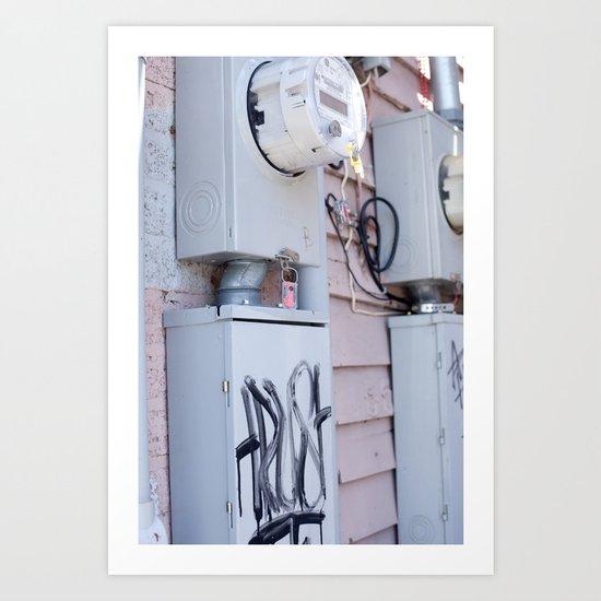 Meters Art Print