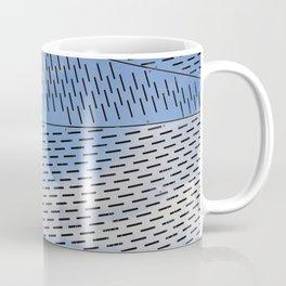 Metal shapes with line notches Coffee Mug