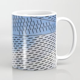 Metal shapes with line notches Coffee Mug