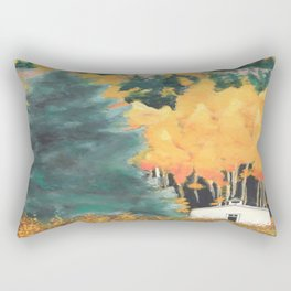 Chapel in the woods Rectangular Pillow