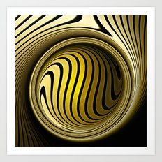 Turning into gold Art Print
