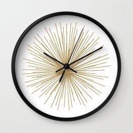 Gold Sputnik Orb Wall Clock