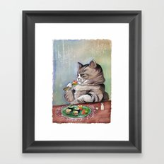 Sushi Cat- Fancy Feast Framed Art Print