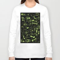 shoes Long Sleeve T-shirts featuring SHOES by Slaney Hopkins Illustration