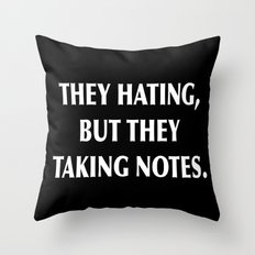 HATERS Throw Pillow