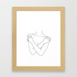 Crossed arms illustration - Joyce Framed Art Print