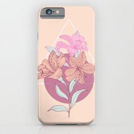 Peruvian Lily botanical drawing iPhone Case