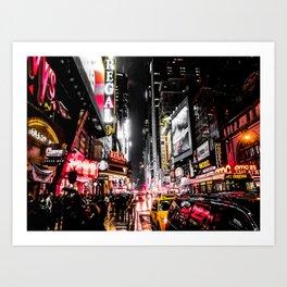 New York City Night II Art Print