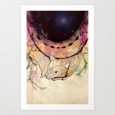 Black Hole in the Woods Art Print