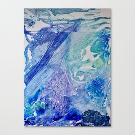 Water Scarab Fossil Under the Ocean, Environmental Canvas Print