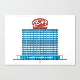 Edificio Pigalle Canvas Print