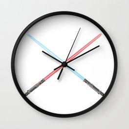Crossed Light Sword Weapons Wall Clock