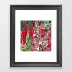 Color Commentary #17: Red & Green [Lena Levin, In Studio With Masters] Framed Art Print