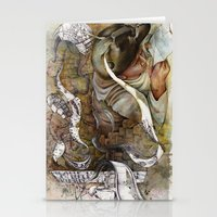 shopping Stationery Cards featuring Ants/Shopping  by Andreas Derebucha