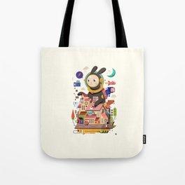 Space rabbit Tote Bag