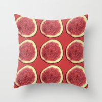 fig Throw Pillows featuring fig by Panic Junkie