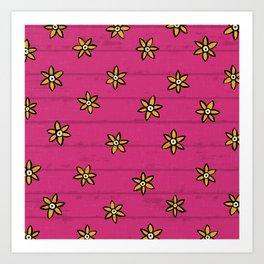 zuhur pink Art Print