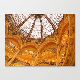 Galeries Lafayette Stained Glass Dome Canvas Print