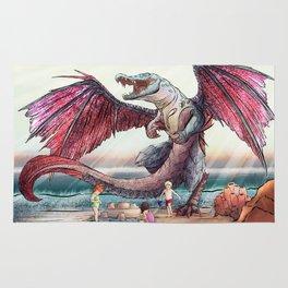 Sea Dragon at the Beach Rug