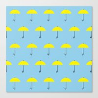 himym Canvas Prints featuring HIMYM Yellow Umbrella by tralalavelling