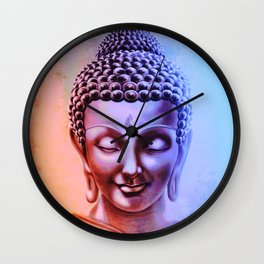 Gautama Buddha Abstract Wall Clock