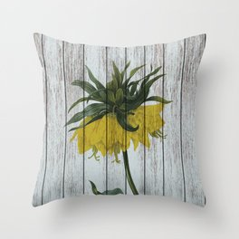 Chabby chic fritillaria Throw Pillow