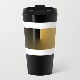 Team Colors 3....Gold, black white Travel Mug