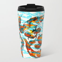 Three Koi Carp Metal Travel Mug