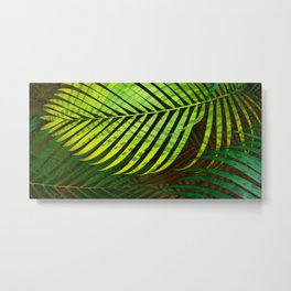 TROPICAL GREENERY LEAVES no3 Metal Print