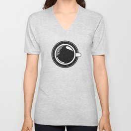 Cup of coffee with stars Unisex V-Neck