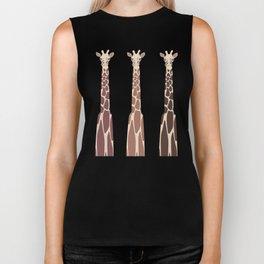 Triple Giraffes Biker Tank