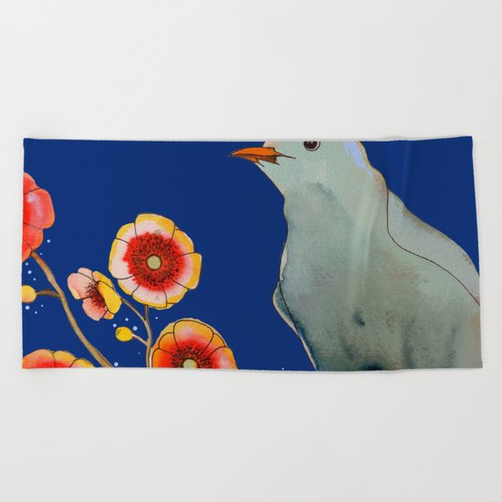 la brise (navy) Beach Towel