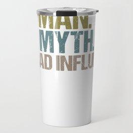 Mens Poppy The Man The Myth The Bad Influence Tshirt Travel Mug