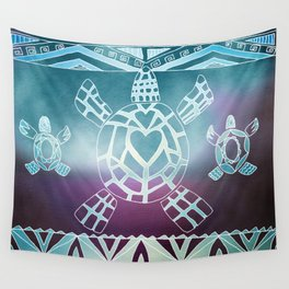 Tribal Sea Turtle Wall Tapestry