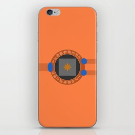 Digivice phone | Orange, Taichi Yagami version iPhone Skin